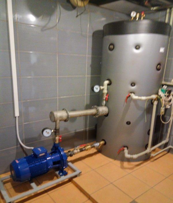 Przykładowa instalacja BPWS w domu mieszkalnym o powierzchni 300m2
